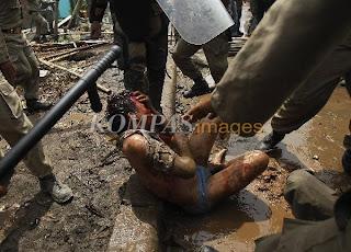 foto korban kekerasan satpol pp tanjung priok