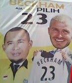 kampanye damai beckham - pemenang pemilu 2009