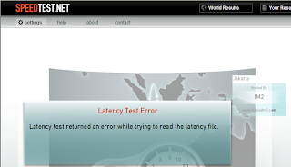latency test error