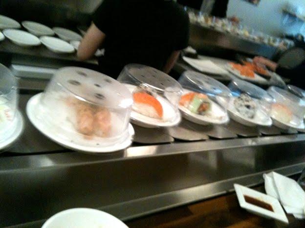 sushi london löpande band