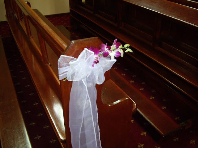 Church Wedding decorations Pew ends by Chanele Rose team