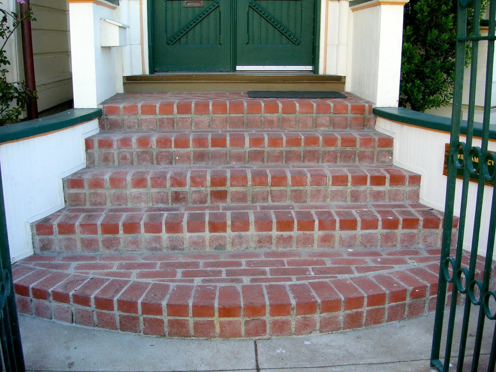 Steve Gally Brick Entrance Steps To Green Gables Inn