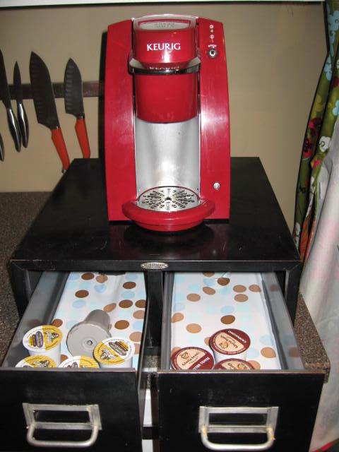 k cup drawer holder cheap diy thenest. Black Bedroom Furniture Sets. Home Design Ideas