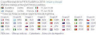 Google y el Mundial 2010
