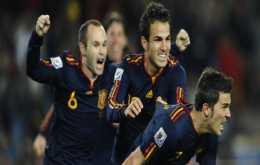 Gol de España a Paraguay España 1 Paraguay 0, España clasificada a semifinales