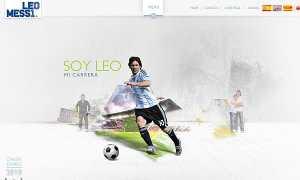 Messi 2010 Lionel Messi lanzó su sitio web