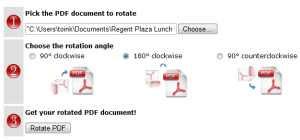 Girar archivos pdf online RotatePdf