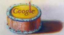 Felíz 12 cumpleaños Google: logo de Google