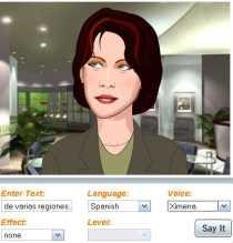 convertir texto a voz con avatar online Oddcast