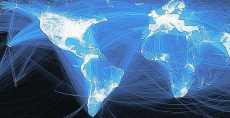Facebook mapa mundial de la amistad