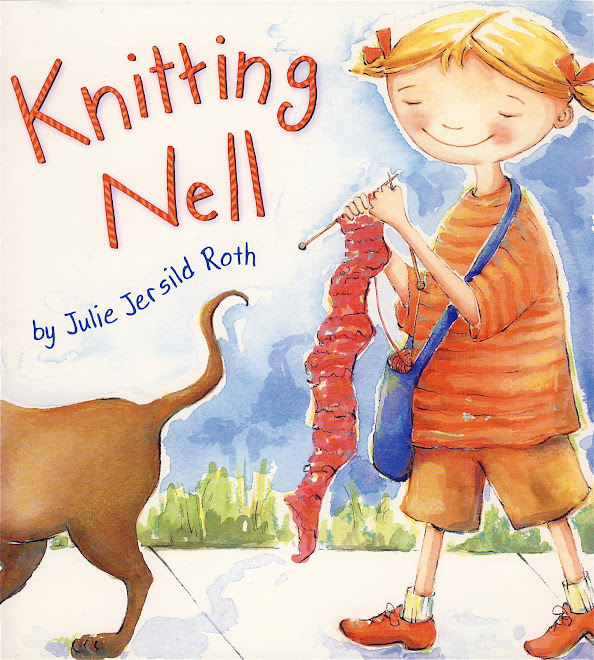 Knitting Nell, published by Houghton Mifflin   SEE MORE IMAGERY