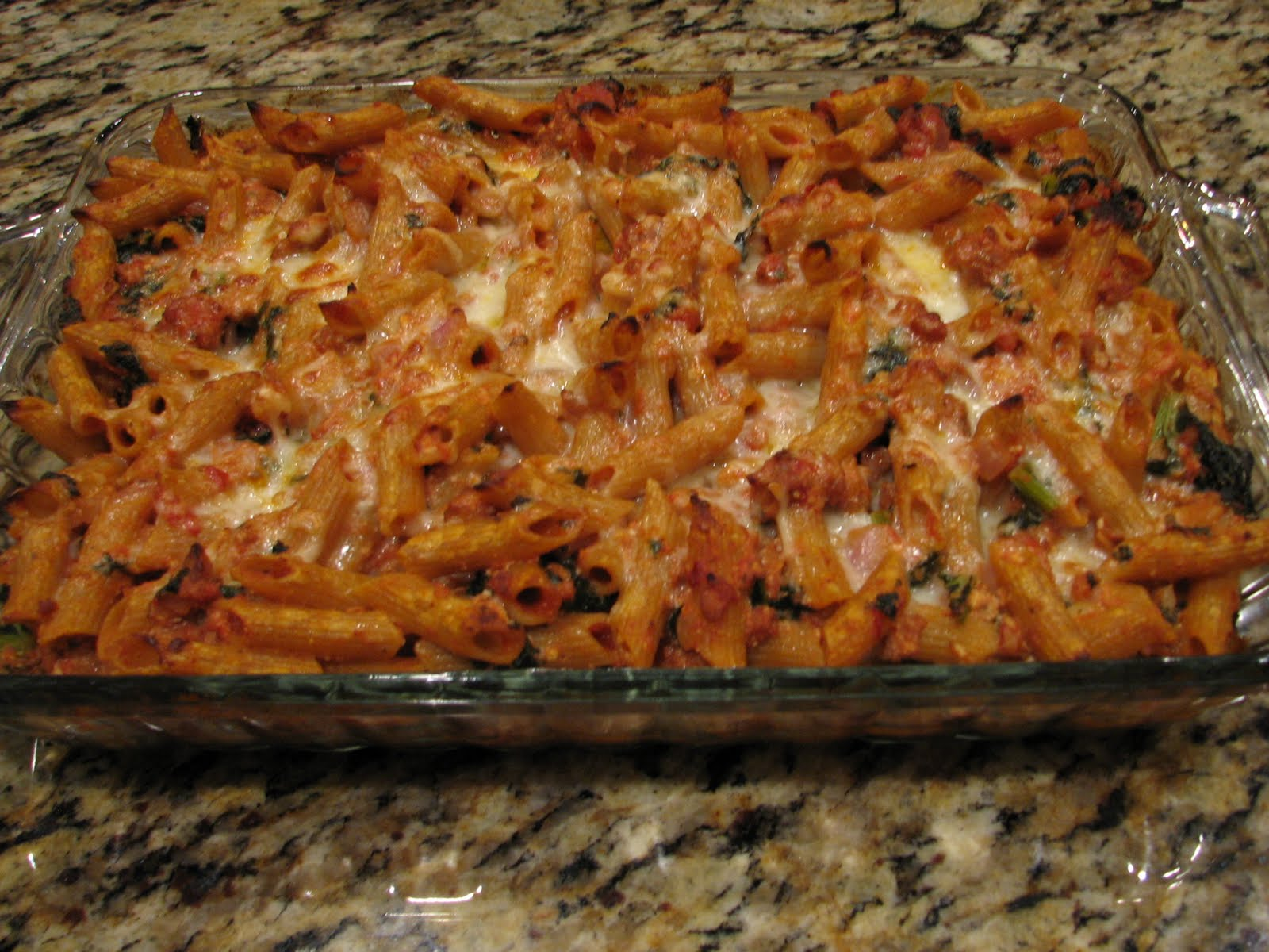 Baked Ziti With Creamy Kale & Sausage Recipe — Dishmaps