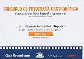 """1º Premio fotografía Gastronómica """"Recetas"""""""