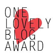 My very first blog award! Thanks, Nina :)