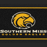 Black Southern Miss flag with Golden Eagles logo.