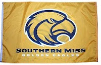 Gold Southern Miss Golden Eagles flag.