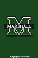 Green Marshall banner with signature green M logo with white and black border against a green background.