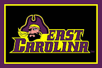 Black and Purple East Carolina flag.