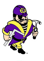 Engineering ECU pirate logo holding a right angle ruler and hammer.