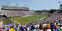 East Carolina football stadium during a day game.