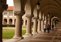 Arched walkway on Rice University campus.