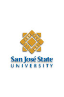 San Jose State University flag with logo.
