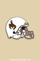 University of Wyoming football helmet flag.