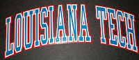 Louisiana Tech block letters.