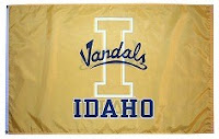 Yellow Idaho Vandals flag.