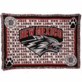 New Mexico Lobos blanket.