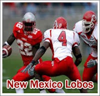 New Mexico football player alludes Utah defenders.