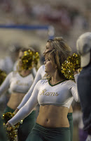Colorado State Rams cheerleaders dance.