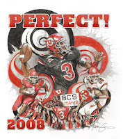 Drawing of Utah football perfect season.