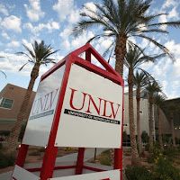 Large UNLV sign on campus.