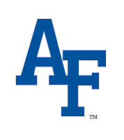 Blue AF Air Force logo.