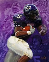 Ladainian Tomlinson in TCU uniform.