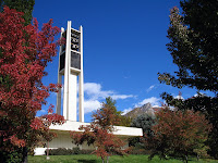 Bell tower on BYU campus.