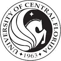 University of Central Florida established 1963 official round seal in black and white on a white background.
