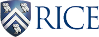 Rice logo and blue shield.