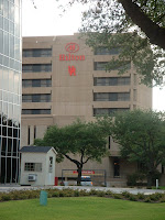 Hilton hotel on Houston campus.