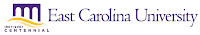 East Carolina University centennial logo.