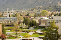 Aerial view of BYU campus.