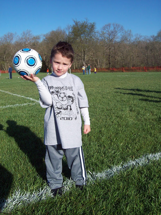 Dalton and his soccer ball