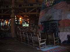 Fireplace at the Wilderness Lodge