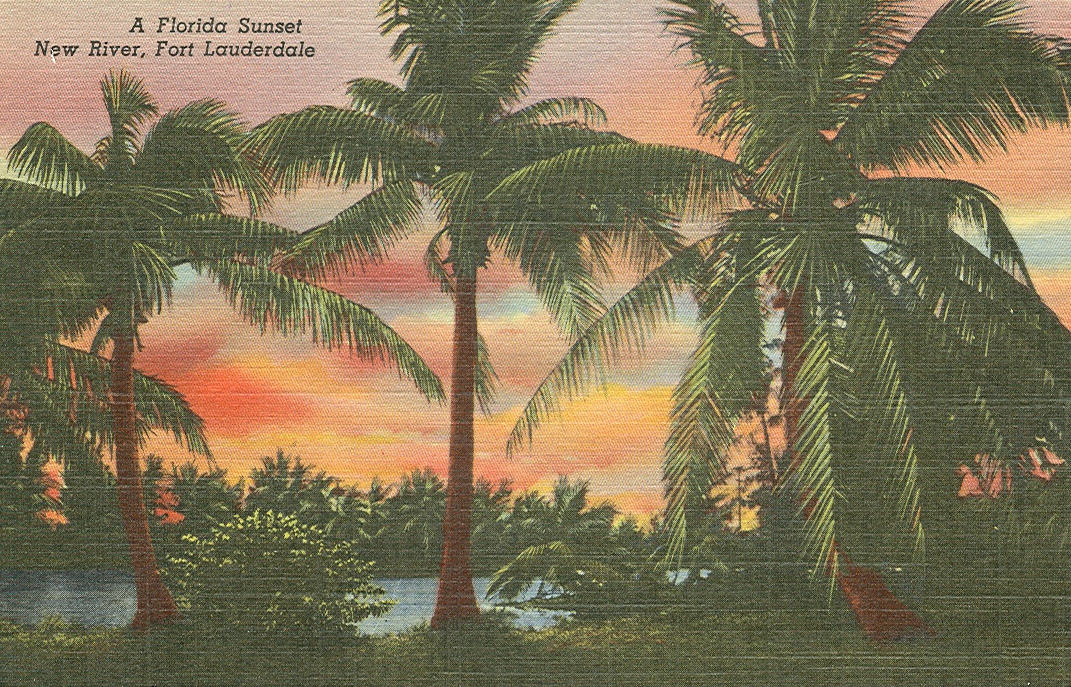 Vintage Travel Postcards Fort Lauderdale Florida