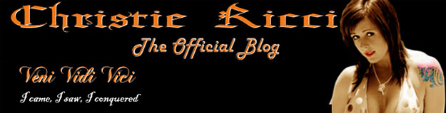 Christie Ricci's Official Blog