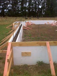 Polyblock foundations going up. February 1, 2010
