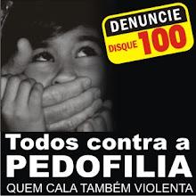 DENUNCIE A EXPLORAÇÃO SEXUAL INFANTIL. LIGUE 100
