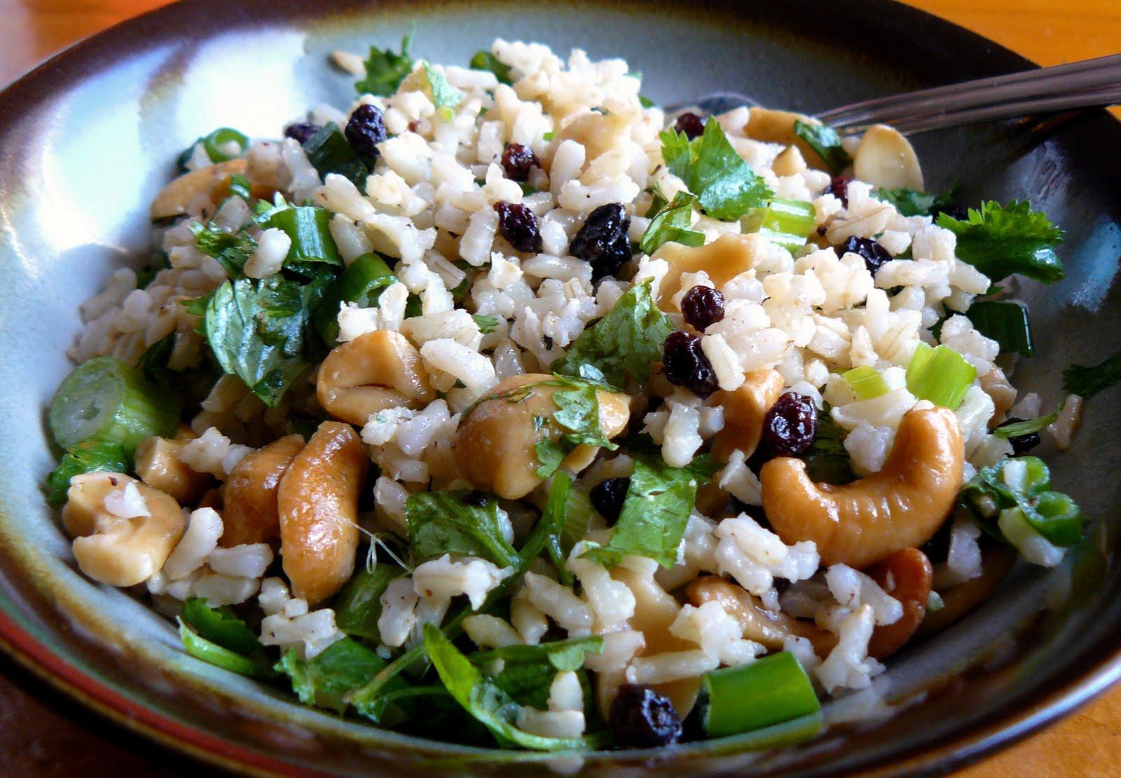 Sesame Cashew Rice Salad
