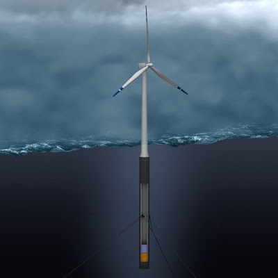 norway world's first floating wind turbine